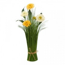 BOUQUET ARTIFICIAL-AMARELO CLARO
